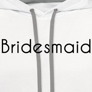 Bridesmaid Text Graphic Design Picture | Perfect for Bridal Parties! - Contrast Hoodie