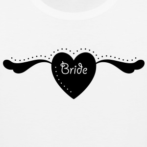 Bride Text Word Graphic Design Heart with Wings - Men's Premium Tank