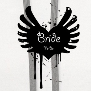 Bride to Be - Winged Heart Paint Splatter Graffiti Inspired for the Edgy Bride! - Contrast Hoodie