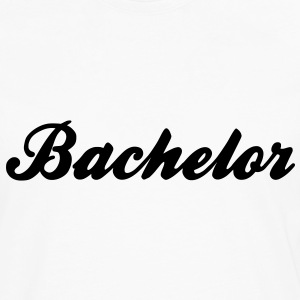 Bachelor Text Graphic Design - You can change the color of the font! - Men's Premium Long Sleeve T-Shirt