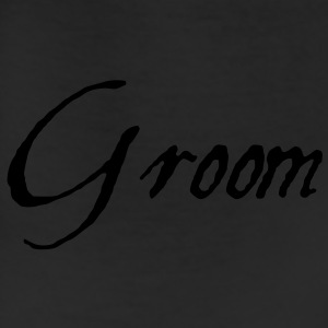 Groom Text Graphic | You can change the color of the Groom Graphic Text! - Leggings