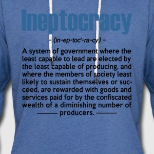Ineptocracy Definition - Unisex Lightweight Terry Hoodie