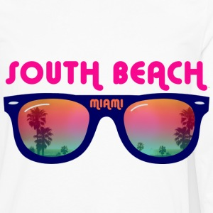 South Beach Miami sunglasses Buttons - Men's Premium Long Sleeve T-Shirt
