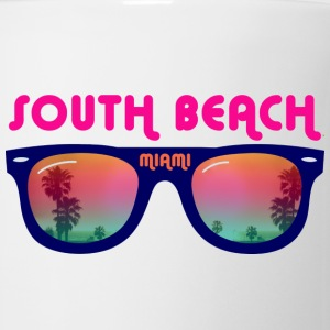 South Beach Miami sunglasses Buttons - Coffee/Tea Mug