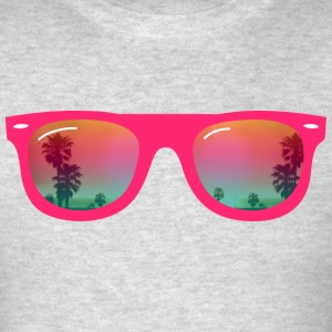 sunglasses palms and beach Long Sleeve Shirts - Men's T-Shirt