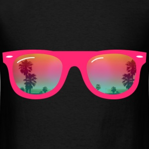 sunglasses palms and beach Bags  - Men's T-Shirt