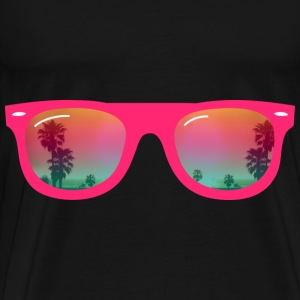 sunglasses palms and beach Bags  - Men's Premium T-Shirt