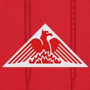 Phoenix Fire Pyramid on Red Baseball Hat - Men's Hoodie