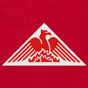 Phoenix Fire Pyramid on Red Baseball Hat - Men's T-Shirt by American Apparel