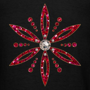Flower of Aphrodite, red, Symbol of  love, beauty and transformation, Power Symbol, Talisman Hoodies - Men's T-Shirt