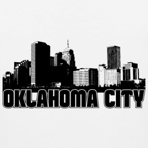 Oklahoma City Skyline Hooded Sweatshirt - Men's Premium Tank