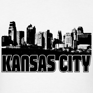 Kansas City Skyline Hooded Sweatshirt - Men's T-Shirt