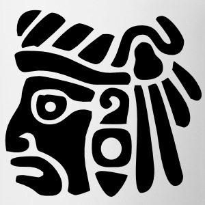 Mayan Face VECTOR T-Shirts - Coffee/Tea Mug