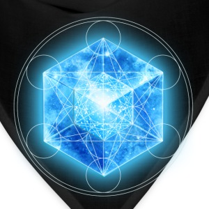 Metatrons Cube with TESSERACT, Hypercube 4D, digital, Symbol - Dimensional Shift,  T-Shirts - Bandana