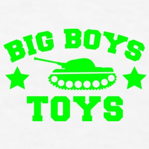 BIG BOYS TOYS with a tank and stars Gift - Men's T-Shirt