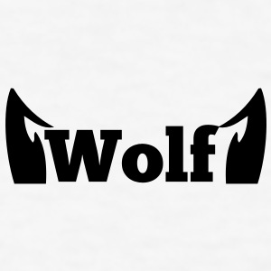 wolf in type with cute ears Gift - Men's T-Shirt