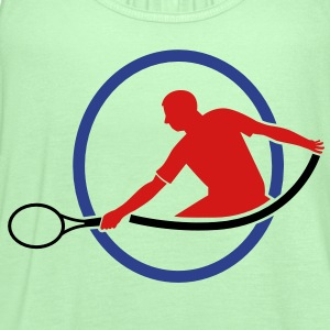 tennis man hitting swing hit T-Shirts - Women's Flowy Tank Top by Bella