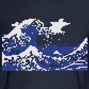 Pixel Tsunami Hoodies - Men's Long Sleeve T-Shirt