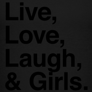 Live , love , laugh and girls Kids' Shirts - Toddler Premium T-Shirt