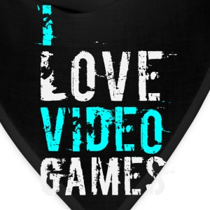 i love video games v1 Hoodies - Bandana