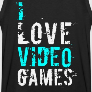 i love video games v1 Hoodies - Men's Premium Tank