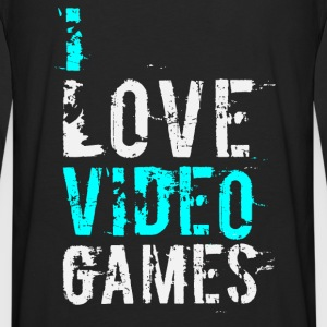 i love video games v1 Hoodies - Men's Premium Long Sleeve T-Shirt