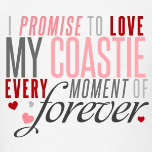 I Promise to Love my Coastie every Moment of Forever - Men's T-Shirt