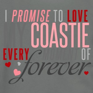 I Promise to Love my Coastie every Moment of Forever - Unisex Fleece Zip Hoodie by American Apparel