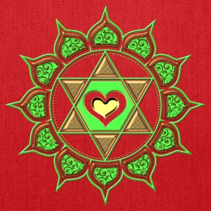 LOTUS OF THE HEART - Heart chakra - Anahata, green, Centre of love and compassion, powerful symbol Women's T-Shirts - Tote Bag