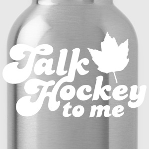 Talk Hockey To Me American Apparel Slim Fit T-Shirt - Water Bottle