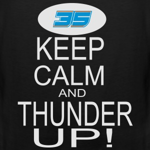 Keep Calm and Thunder Up! (OKC THUNDER) Women's T- - Men's Premium Tank