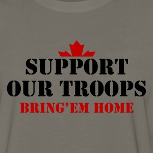 Khaki Support Our Troops Bring them home T-Shirts - Men's Premium Long Sleeve T-Shirt