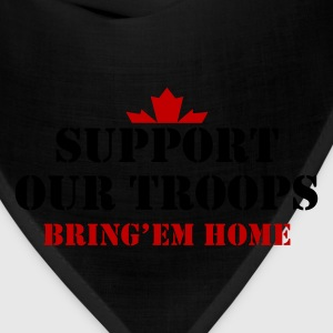 Black Support Our Troops Bring them home T-Shirts - Bandana