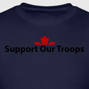 Navy Support Our Troops Hoodies - Men's T-Shirt