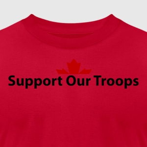 Red Support Our Troops Hoodies - Men's T-Shirt by American Apparel