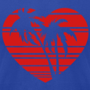 palm heart Hoodies - Men's T-Shirt by American Apparel