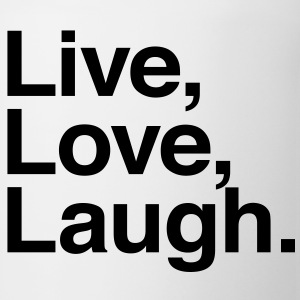 live love laugh Buttons - Coffee/Tea Mug
