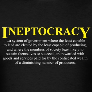 Ineptocracy definition Long Sleeve Shirts - Men's T-Shirt