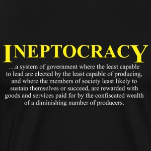 Ineptocracy definition Long Sleeve Shirts - Men's Premium T-Shirt