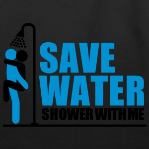 save_water Shower With ME - Eco-Friendly Cotton Tote
