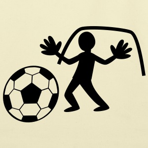 GOALIE goals catching the Soccer ball arms open T-Shirts - Eco-Friendly Cotton Tote