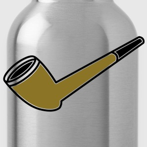a smokers smoking pipe T-Shirts - Water Bottle