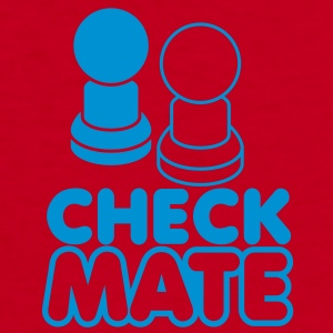 CHECK MATE with pawns in blue Zip Hoodies/Jackets - Women's V-Neck T-Shirt