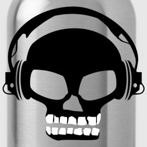 Dj dubstep skull tee shirt t-shirt - Water Bottle