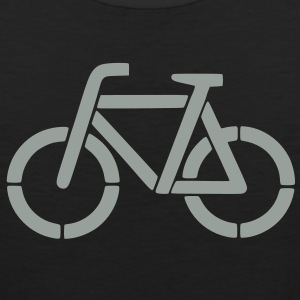 bicycle stencil Hoodies - Men's Premium Tank
