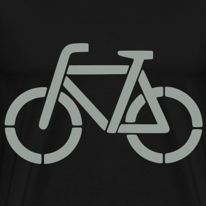 bicycle stencil Bags  - Men's Premium T-Shirt