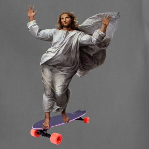 Jesus with Skateboard Longboard T-Shirts - Adjustable Apron