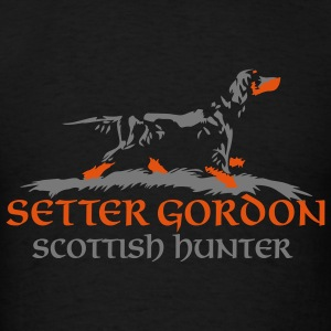 setter gordon - scottish hunter - Men's T-Shirt