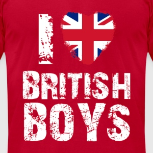 i love british boys Long Sleeve Shirts - Men's T-Shirt by American Apparel
