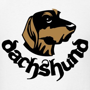 dauchshound head - Men's T-Shirt